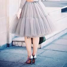 Fashion <b>5 Layers 60cm Tutu</b> Tulle Skirt Vintage Midi Pleated ...