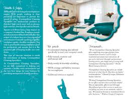 cleaning company brochure design roxane brisson design