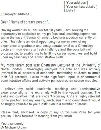 lecturer cover letter sample writing a speculative cover letter