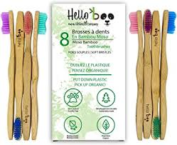Hello Boo <b>Bamboo Toothbrush Set</b> for Adults <b>Biodegradable</b> ...