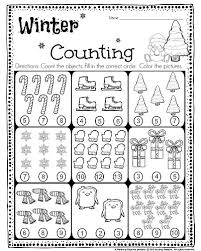 Kindergarten Math and Literacy Worksheets for December - Planning ...FREE Kindergarten Counting Worksheet - Count the objects, and fill in the correct circle.