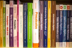 about textbooks background image bookshelf full of math textbooks
