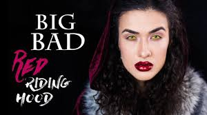 BIG BAD Red Riding Hood | Макияж на Хэллоуин 2017 - YouTube