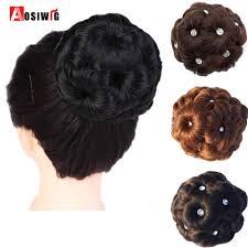 <b>AOSIWIG</b> Hair Women Donut <b>Chignon</b> Hair Bun Donut Clip In ...