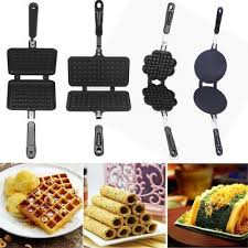 <b>Household Non-Stick Waffle Maker</b> Pan Mould Mold Press Plate ...
