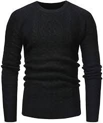 AKIMPE Men's <b>Autumn</b> Winter Solid <b>Pullover</b> Casual <b>Knitted</b> ...
