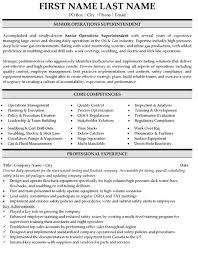 operations superintendent resume sample template superintendent resume