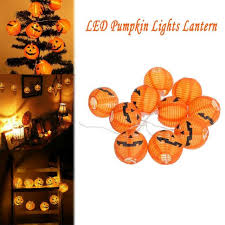 <b>10 LED</b> Pumpkin String Fairy Lights Lantern Party Home Halloween ...