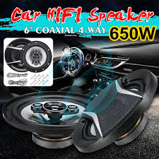 NEW <b>2pcs 6 Inch</b> 650W <b>Car</b> HiFi Coaxial Speaker <b>Vehicle</b> Door ...