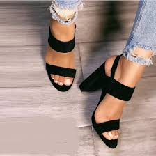 Shop Rose Women <b>Chunky High Heels</b> Sandals <b>Gladiator</b> Pump ...