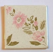 """Z-777) <b>1 Pc Vintage</b> 4 <b>1</b>/4"""" <b>Decorative</b> Accent Ceramic Pink Gold ..."""