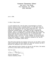 letter of recommendation for a teaching position cover letter letter of recommendation for a teaching position