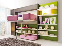 amazing space saving kids bedroom design displaying wall bed with grey metal stairs and tall dark amazing kids bedroom ideas calm