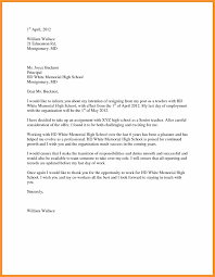 resignation letter samples resignation letter for high school teacher