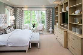 new french country small traditional master bedroom idea in minneapolis with blue walls and carpet bedroom gray walls