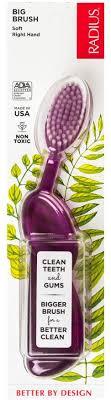 RADIUS, <b>Original Toothbrush</b>, <b>Purple</b>, Soft, Right Hand, 1 ...