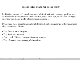 Inside sales manager cover letter SlideShare inside sales manager cover letter In this file  you can ref cover letter materials for