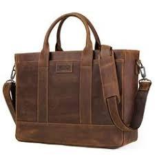 JOYIR Men's Leather Briefcases Men Business Crazy Horse ...