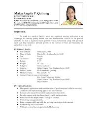 sample resume format nurses philippines   professional summary    sample resume format nurses philippines