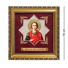 <b>Панно Art East</b>, <b>Целитель</b> Пантелеймон, 18*19 см | www.gt-a.ru
