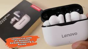 <b>Lenovo</b> Live pods <b>LP1 bluetooth</b> Earbuds Headset Unboxing and ...