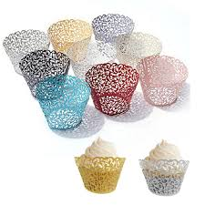 Home, Furniture & DIY 25/50/<b>100pcs</b> Wedding Cupcake Wrappers ...