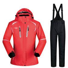 Online Shop <b>Ski Suit Women Winter</b> Snow Clothing Set Thick ...