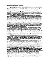 frederick douglass essaysfrederick douglass passage commentary   gcse english   marked by     page  zoom  frederick douglass essay