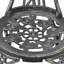 vidaXL <b>Bistro Chairs 2 pcs</b> Green 41x49x81.5 cm Cast Aluminium ...