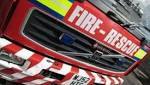 Firefighters tackle blaze on agricultural land