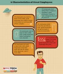 infographic characteristics of great employees page of  infographic 6 characteristics of great employees