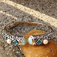 2019 <b>DJ CH Fine</b> Woman <b>Jewelry</b> Ethnic Bohemian Bangle Natural ...