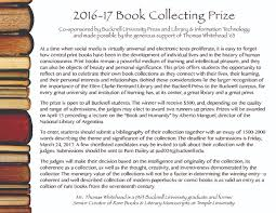 bucknell university press edimus quod nobis libet 2016 17 book collecting prize now open