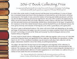 bucknell university press edimus quod nobis libet book prize flyer 2016 17