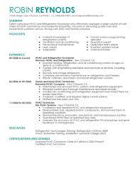 hvac resume examples resume format 2017 hvac