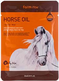 FarmStay <b>Тканевая маска с</b> лошадиным маслом для сухой кожи ...