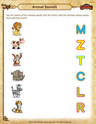 Animal Sounds – Kindergarten Science Worksheet – School of DragonsAnimal Sounds - Printable Kindergarten Science Worksheet
