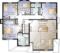 House plan W  V detail from DrummondHousePlans com    nd level to bedroom New Traditional house plan  game room  home office