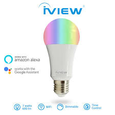 iView ISB600 <b>7W</b> 600lm Multi-color <b>LED Wi-Fi Smart Light</b> Bulb ...