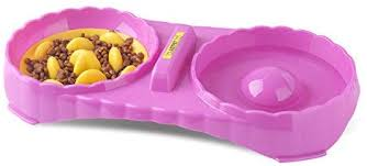 <b>Double Bowls</b> Feeding Station - Slow Feeder Dog <b>Bowl</b> - 2 in 1 Food ...