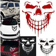 Reflective Skull Car Stickers Styling Removable Waterproof ... - Vova