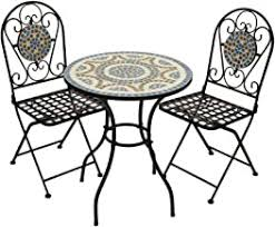 Garden Table and Two Chairs - Amazon.co.uk