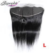 <b>Bigsophy Mongolian Hair</b> Kinky Straight Lace Closure 4*4 Human ...