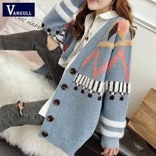 Vangull Women Letter Print Knitted Sweater Spring <b>Autumn New</b> ...