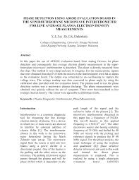 (PDF) Phase detection using <b>AD8302 evaluation board</b> in the ...