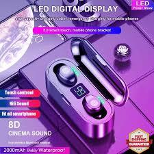 F9 In-ear TWS <b>Mini Bluetooth Headset</b> 8D Stereo with LED Display ...