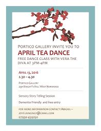 sarah glover dementia friendly tea dance at the portico gallery