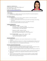 sample resume nurses without experience resume without experience