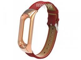 <b>Aксессуар Ремешок Apres для</b> Xiaomi Mi Band 3 Leather Strap Red