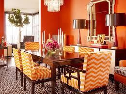 Orange Dining Room Chairs Remarkable Dining Room Furniture And Fancy Dining Room Design Also